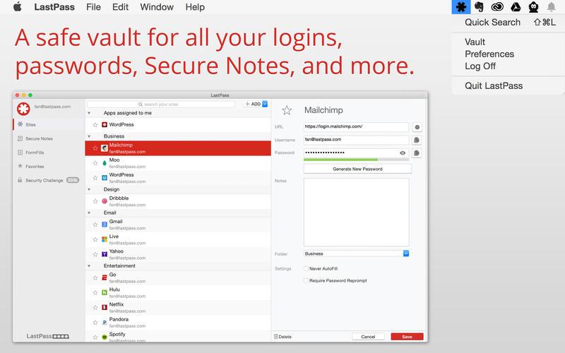 LastPass Mac App